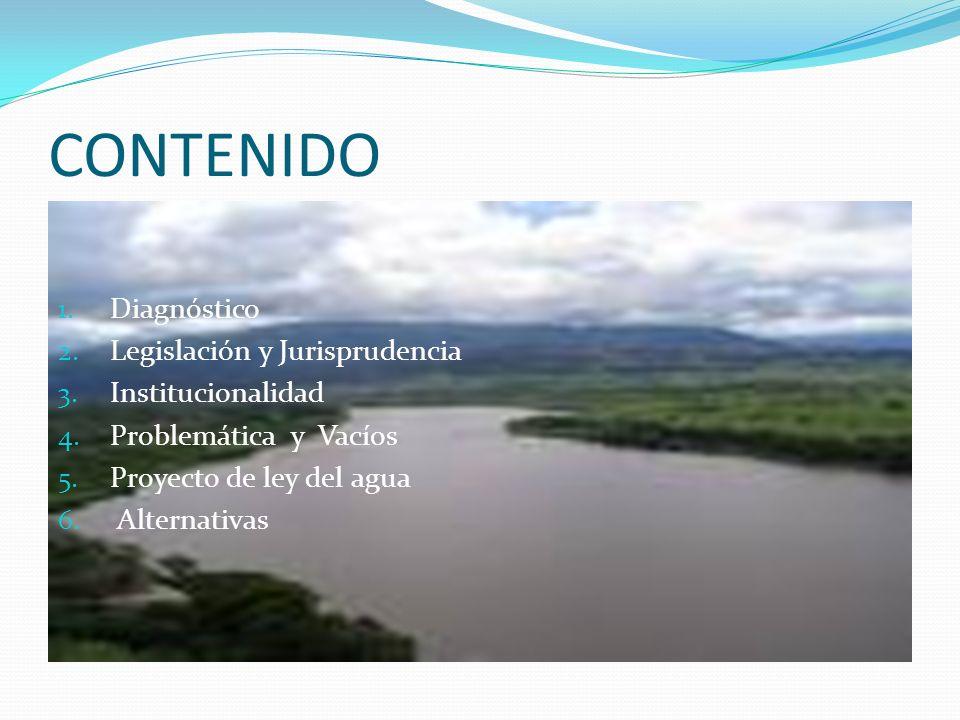 CONTENIDO Diagnóstico Legislación y Jurisprudencia Institucionalidad