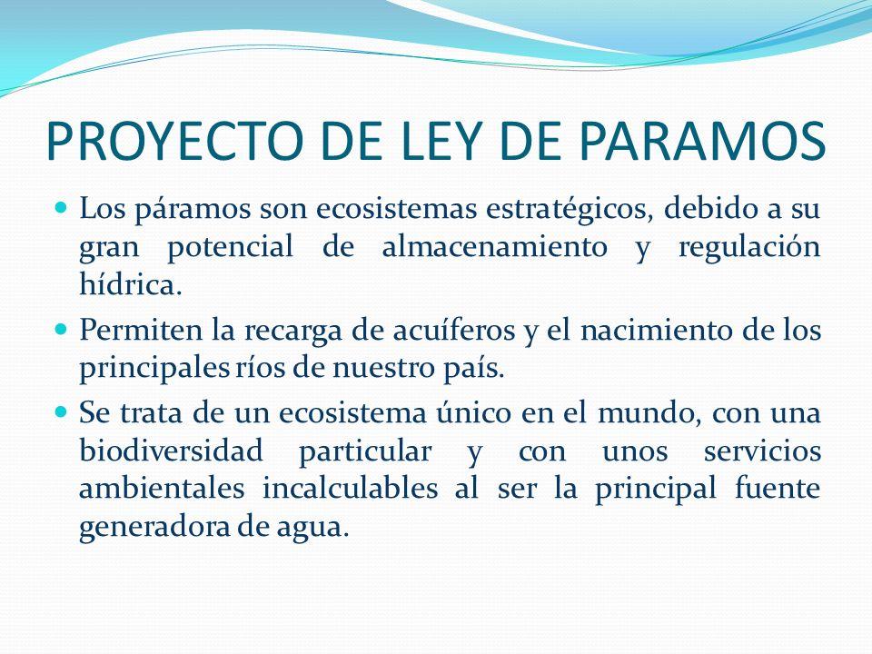 PROYECTO DE LEY DE PARAMOS