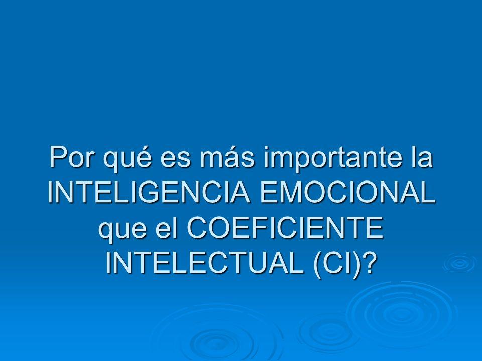 Por qué es más importante la INTELIGENCIA EMOCIONAL que el COEFICIENTE INTELECTUAL (CI)