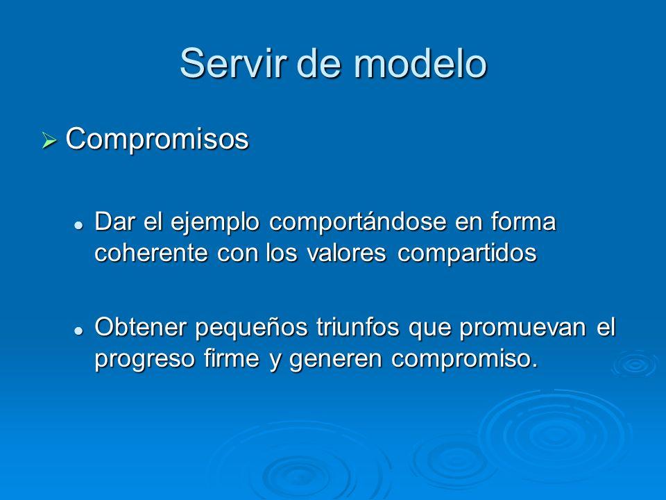 Servir de modelo Compromisos