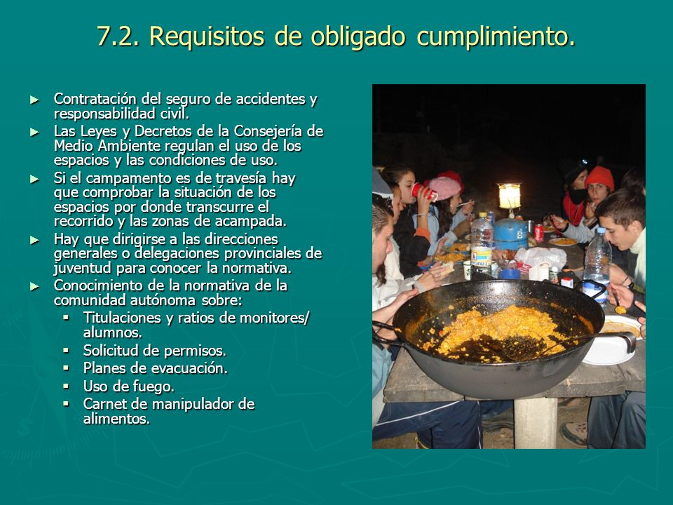 7.2. Requisitos de obligado cumplimiento.