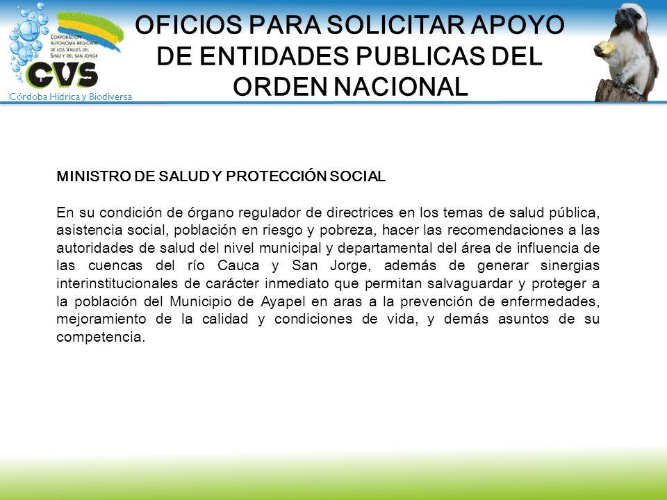 OFICIOS PARA SOLICITAR APOYO DE ENTIDADES PUBLICAS DEL