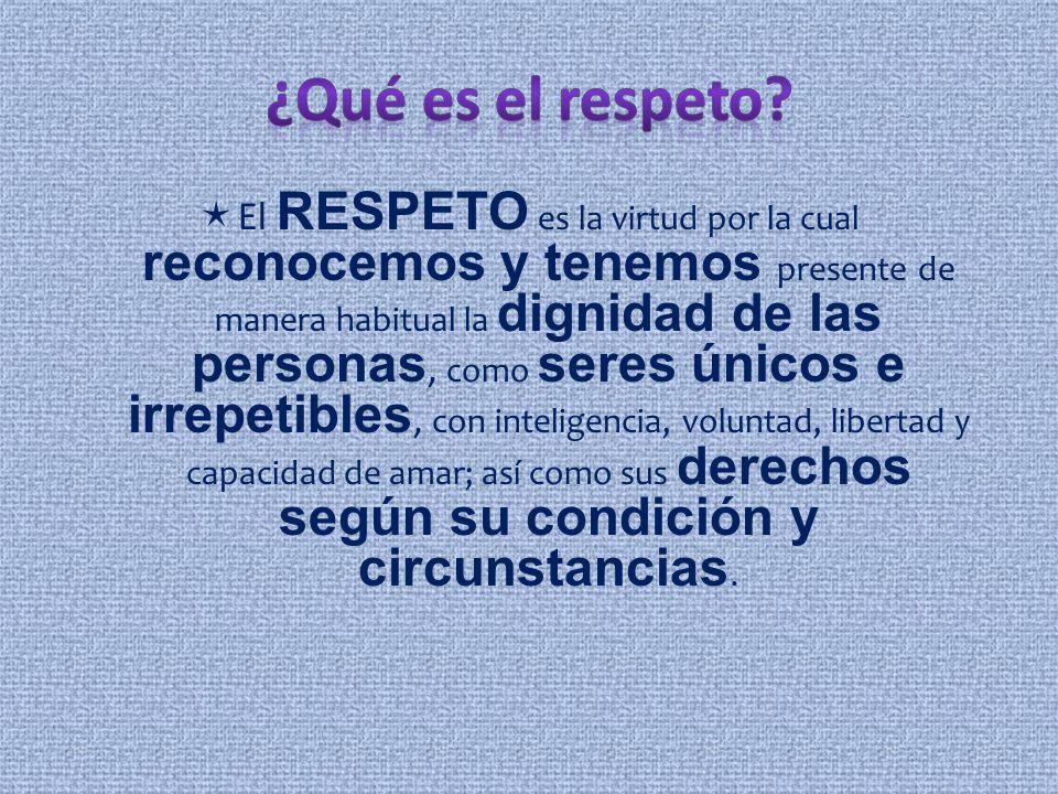 ¿Qué es el respeto