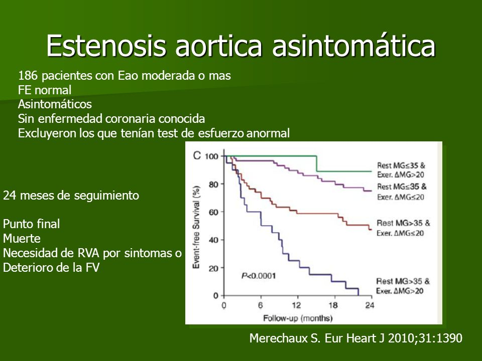 Estenosis aortica asintomática