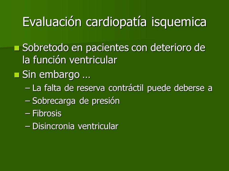 Evaluación cardiopatía isquemica