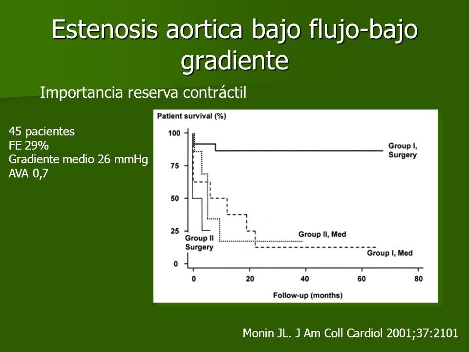 Estenosis aortica bajo flujo-bajo gradiente