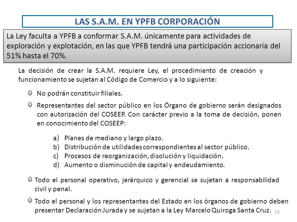 LAS S.A.M. EN YPFB CORPORACIÓN
