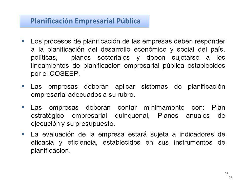 Planificación Empresarial Pública