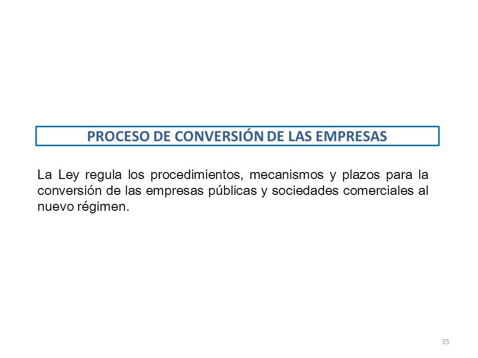 PROCESO DE CONVERSIÓN DE LAS EMPRESAS