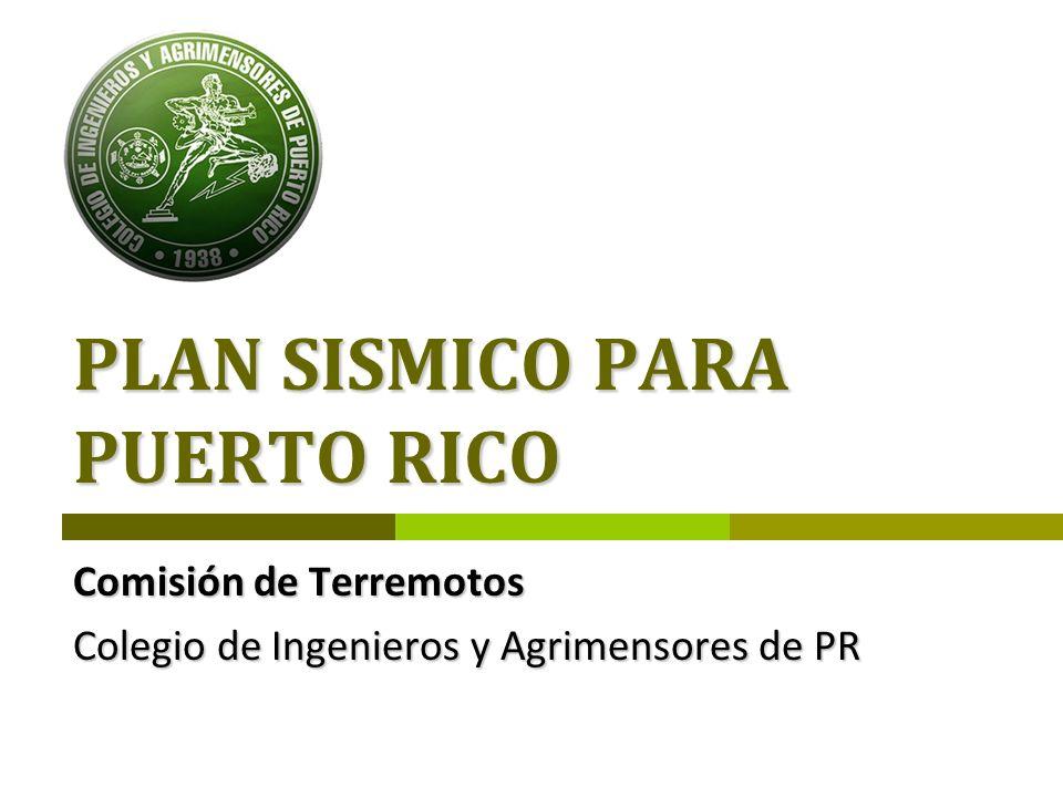 PLAN SISMICO PARA PUERTO RICO