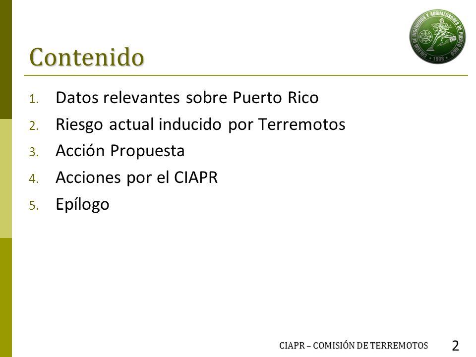 Contenido Datos relevantes sobre Puerto Rico