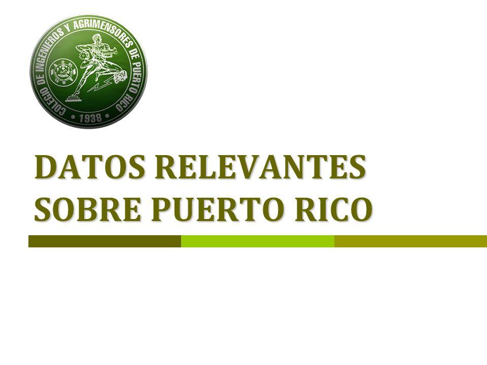 DATOS RELEVANTES SOBRE PUERTO RICO
