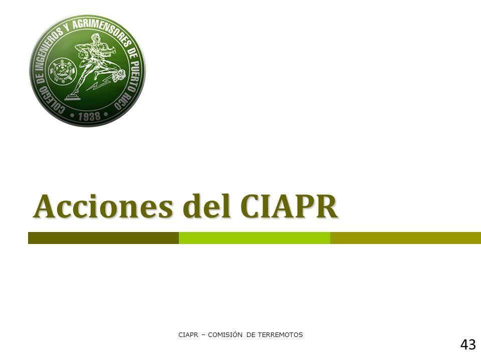 CIAPR – COMISIÓN DE TERREMOTOS