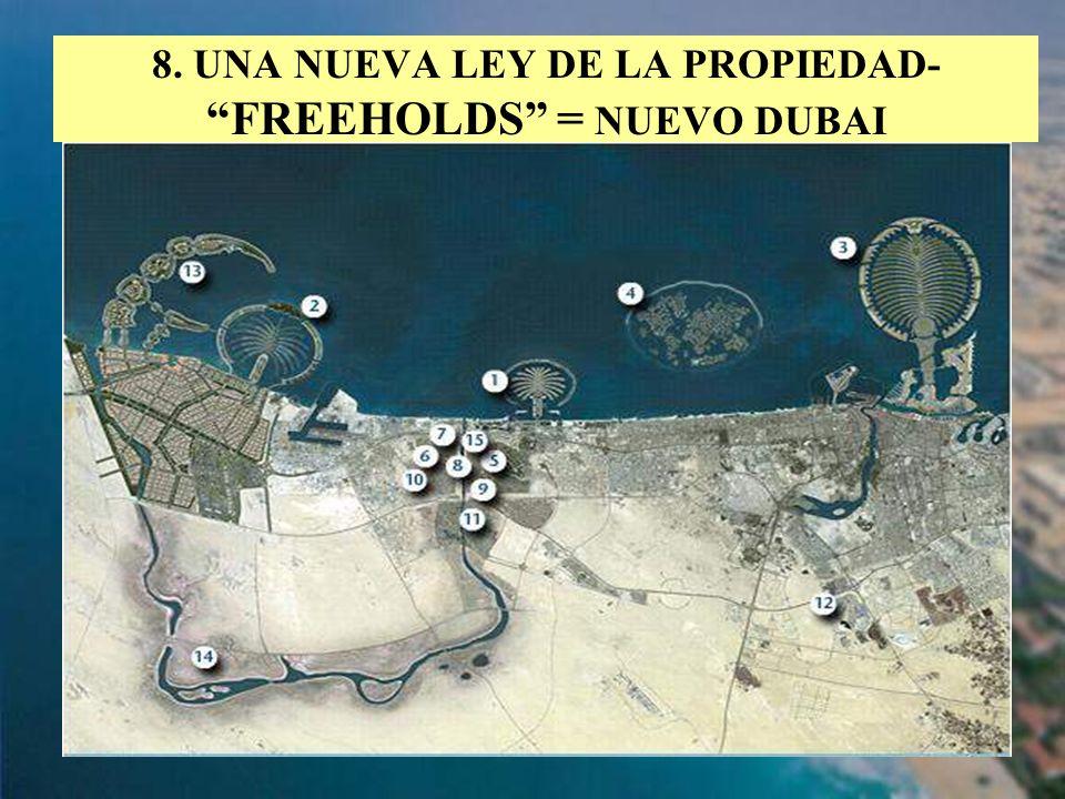 8. UNA NUEVA LEY DE LA PROPIEDAD- FREEHOLDS = NUEVO DUBAI