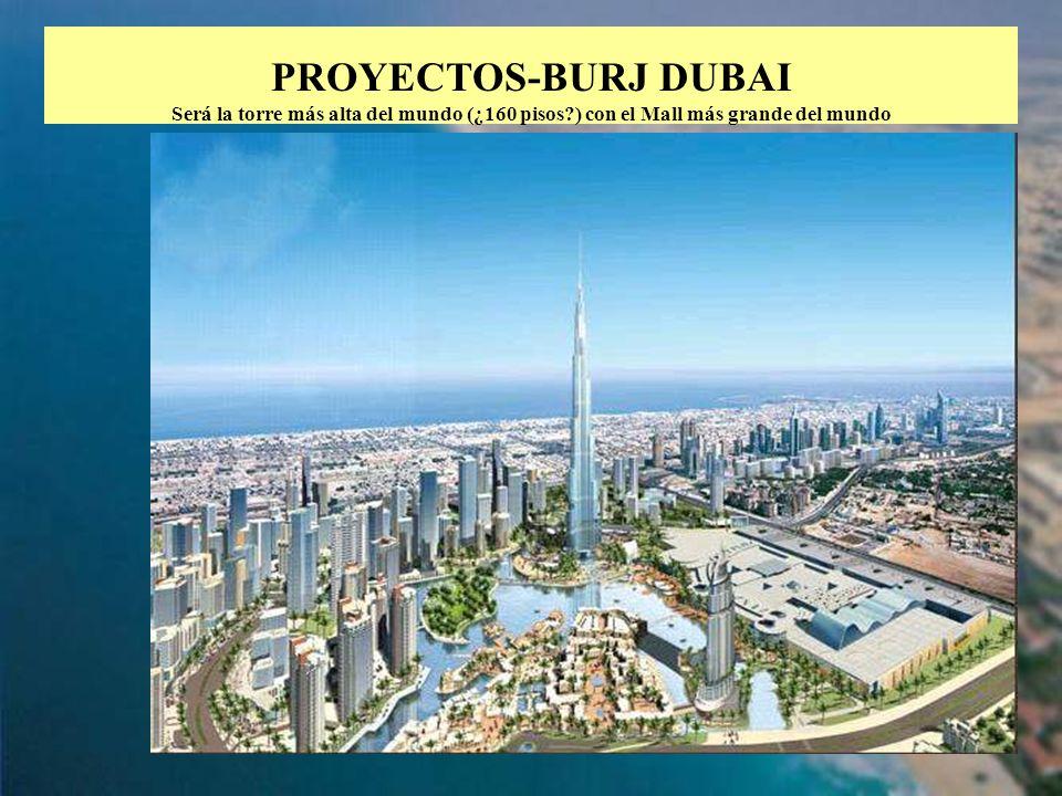 PROYECTOS-BURJ DUBAI Será la torre más alta del mundo (¿160 pisos