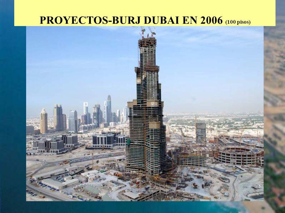 PROYECTOS-BURJ DUBAI EN 2006 (100 pisos)