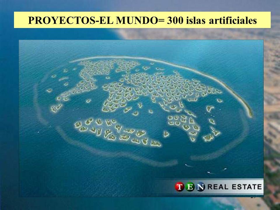 PROYECTOS-EL MUNDO= 300 islas artificiales