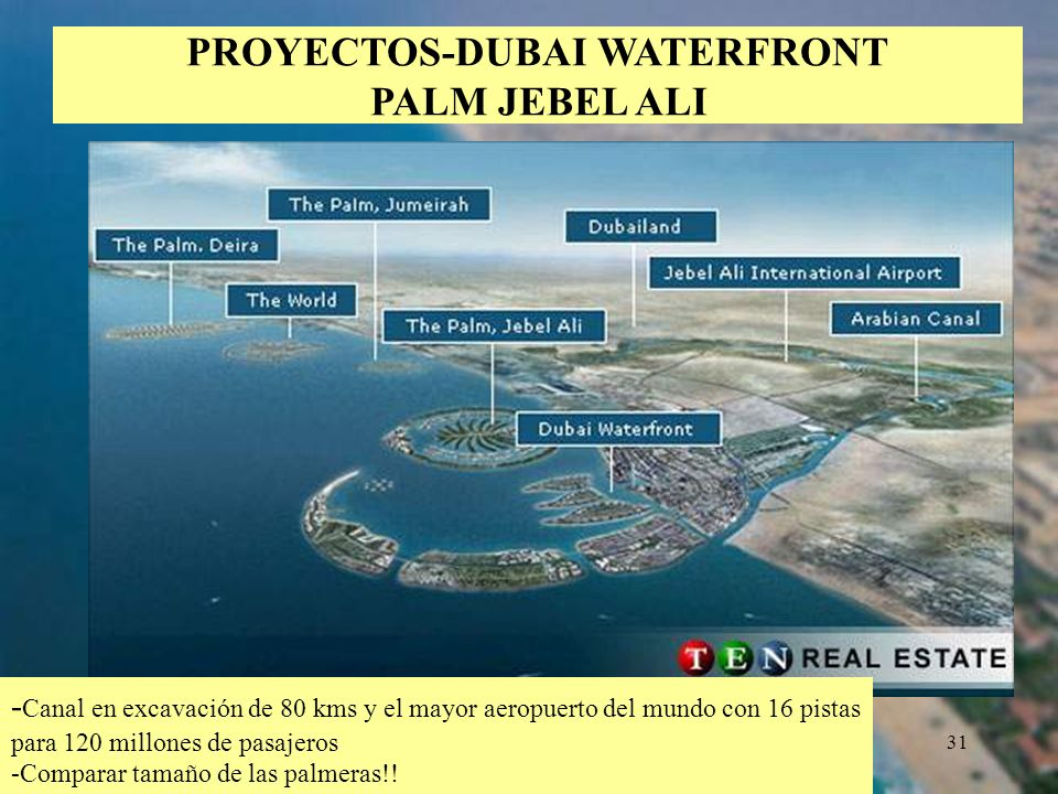 PROYECTOS-DUBAI WATERFRONT PALM JEBEL ALI