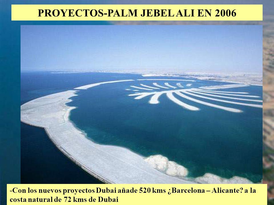 PROYECTOS-PALM JEBEL ALI EN 2006