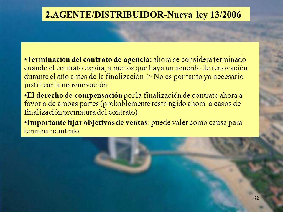 2.AGENTE/DISTRIBUIDOR-Nueva ley 13/2006