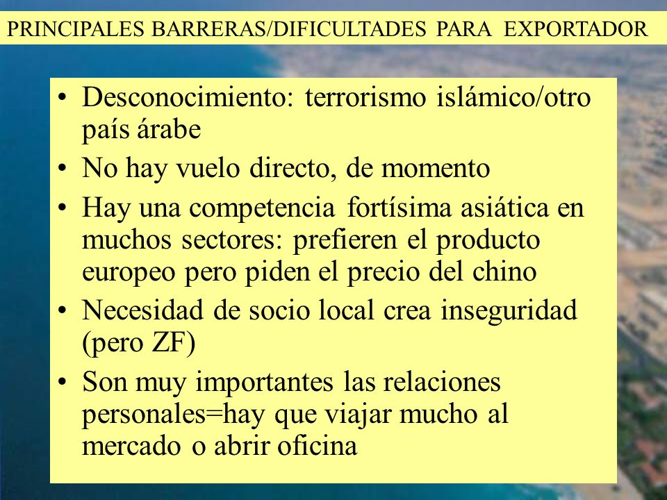 Desconocimiento: terrorismo islámico/otro país árabe