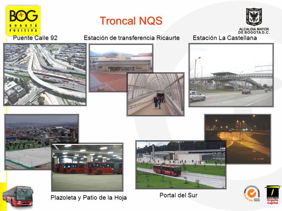 Troncal NQS Puente Calle 92 Estación de transferencia Ricaurte