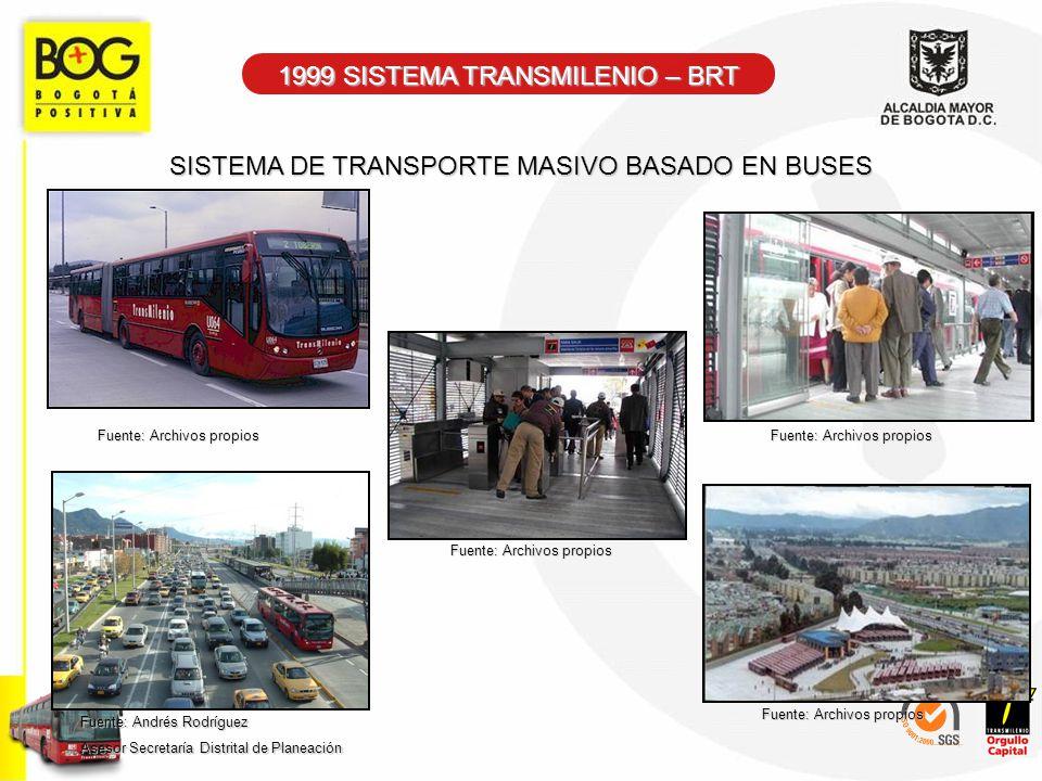 1999 SISTEMA TRANSMILENIO – BRT