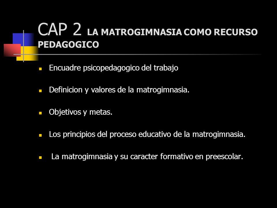CAP 2 LA MATROGIMNASIA COMO RECURSO PEDAGOGICO