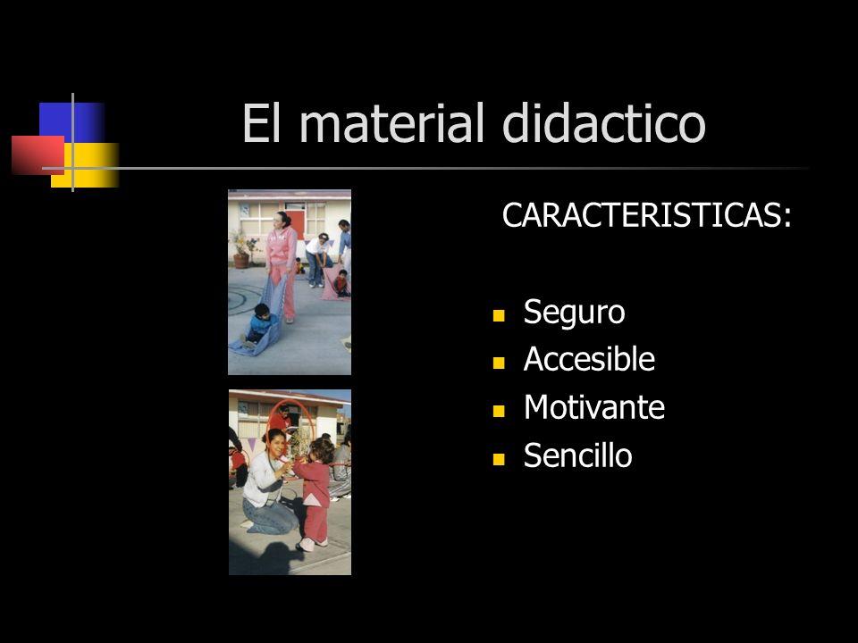 El material didactico CARACTERISTICAS: Seguro Accesible Motivante