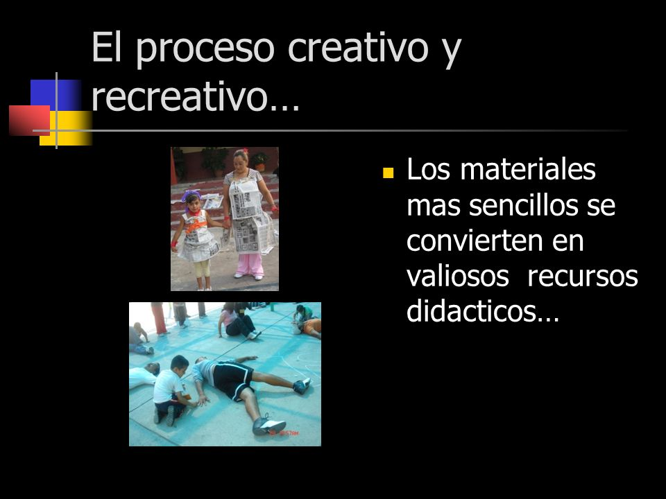 El proceso creativo y recreativo…