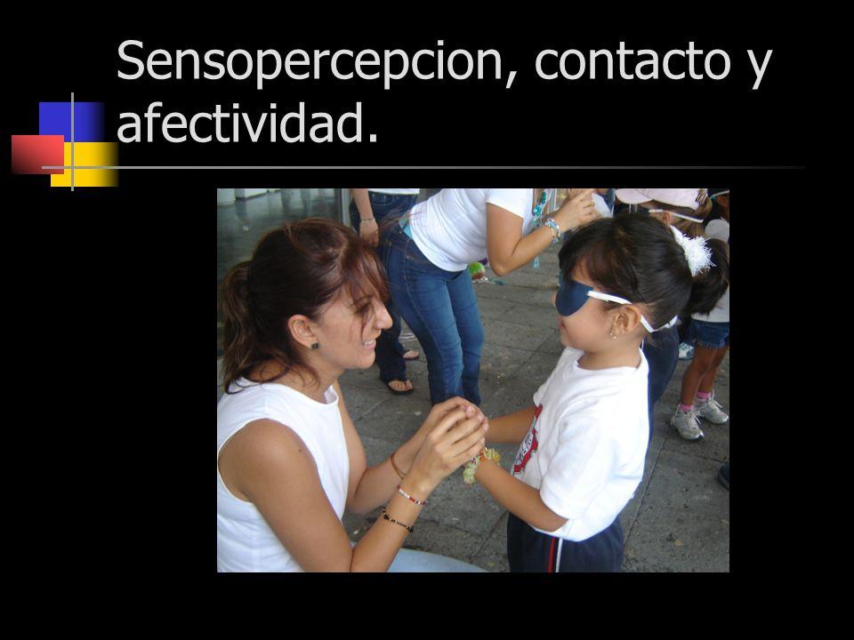 Sensopercepcion, contacto y afectividad.