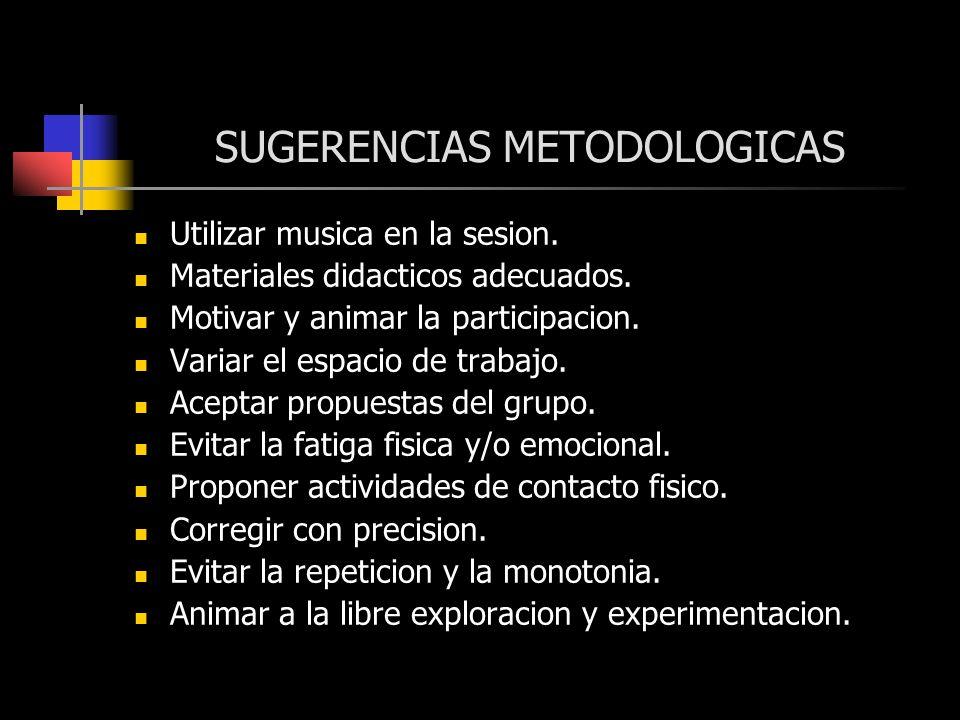 SUGERENCIAS METODOLOGICAS