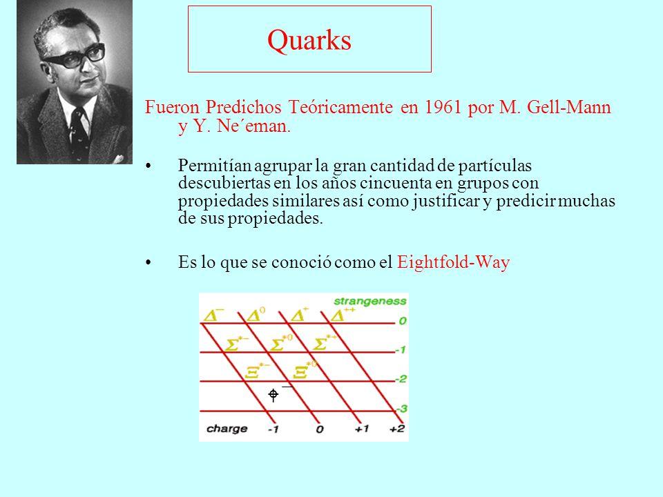 Fueron Predichos Teóricamente en 1961 por M. Gell-Mann y Y. Ne´eman.