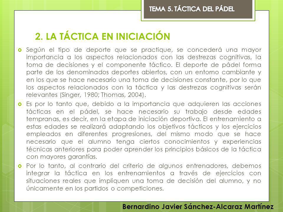 2. LA TÁCTICA EN INICIACIÓN