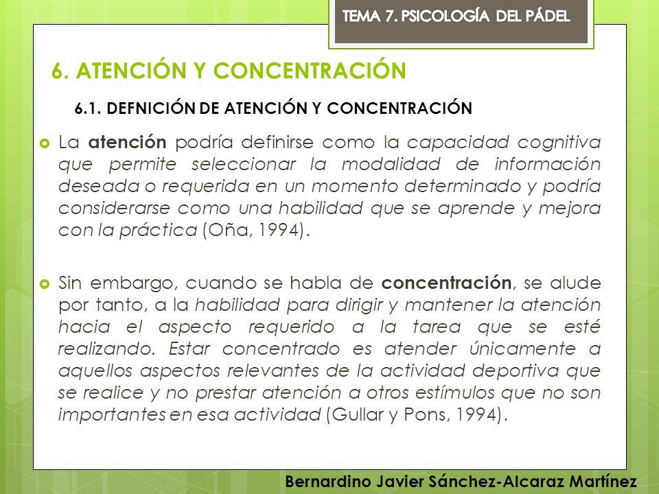 6. ATENCIÓN Y CONCENTRACIÓN