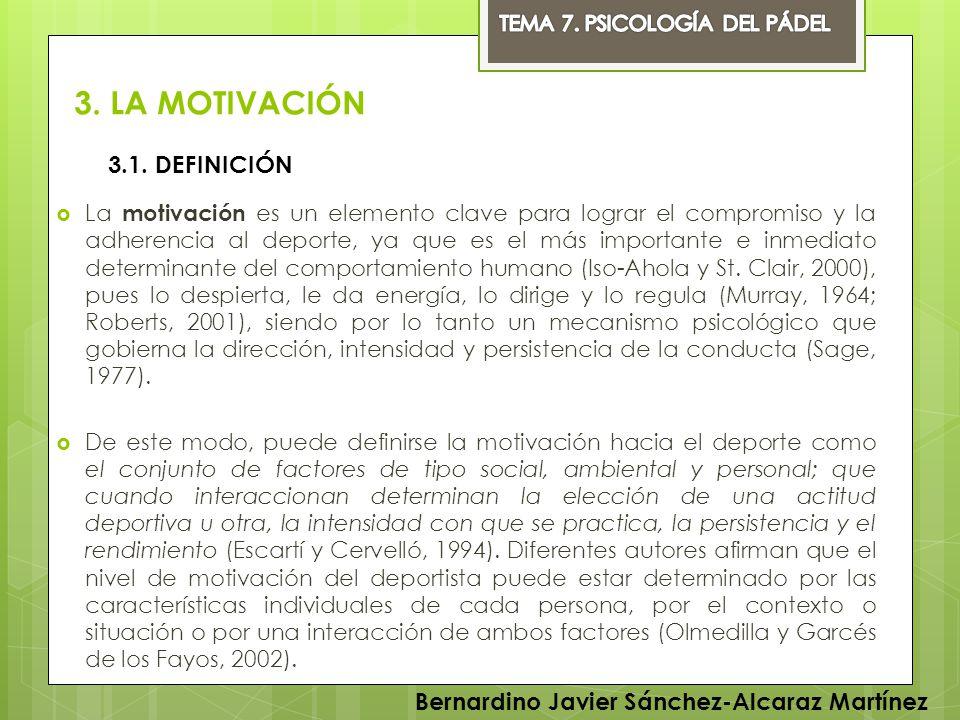 3. LA MOTIVACIÓN 3.1. DEFINICIÓN