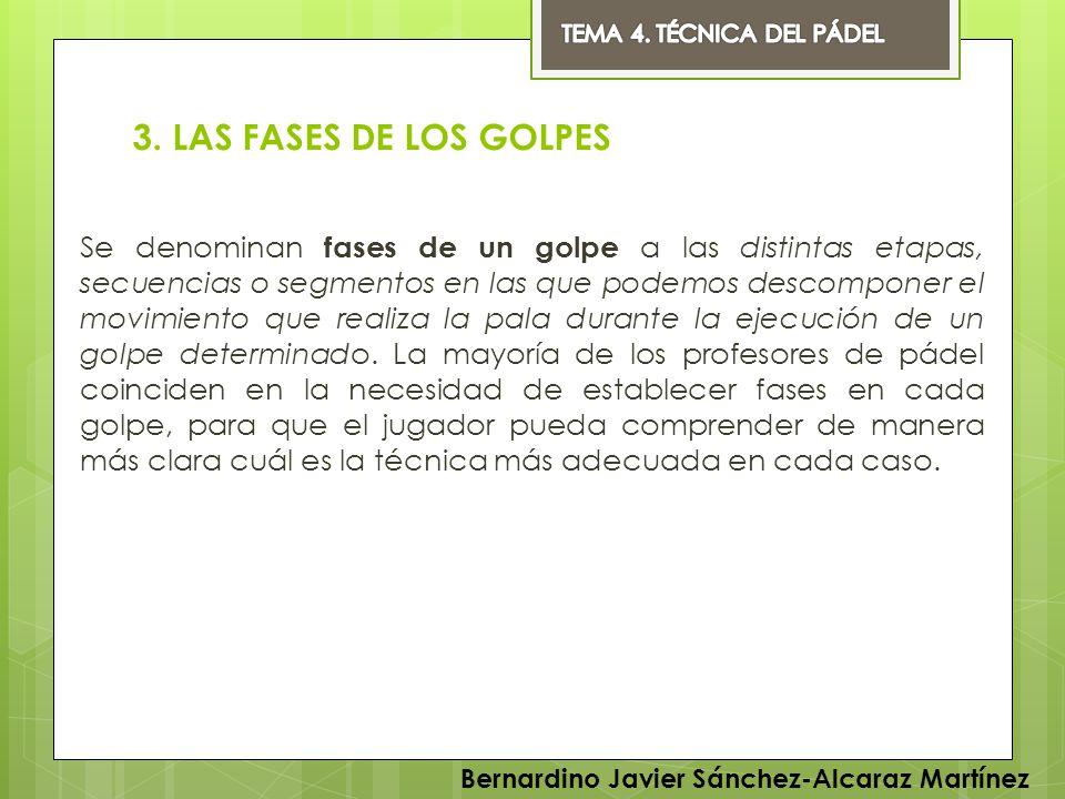 TEMA 4. TÉCNICA DEL PÁDEL 3. LAS FASES DE LOS GOLPES.