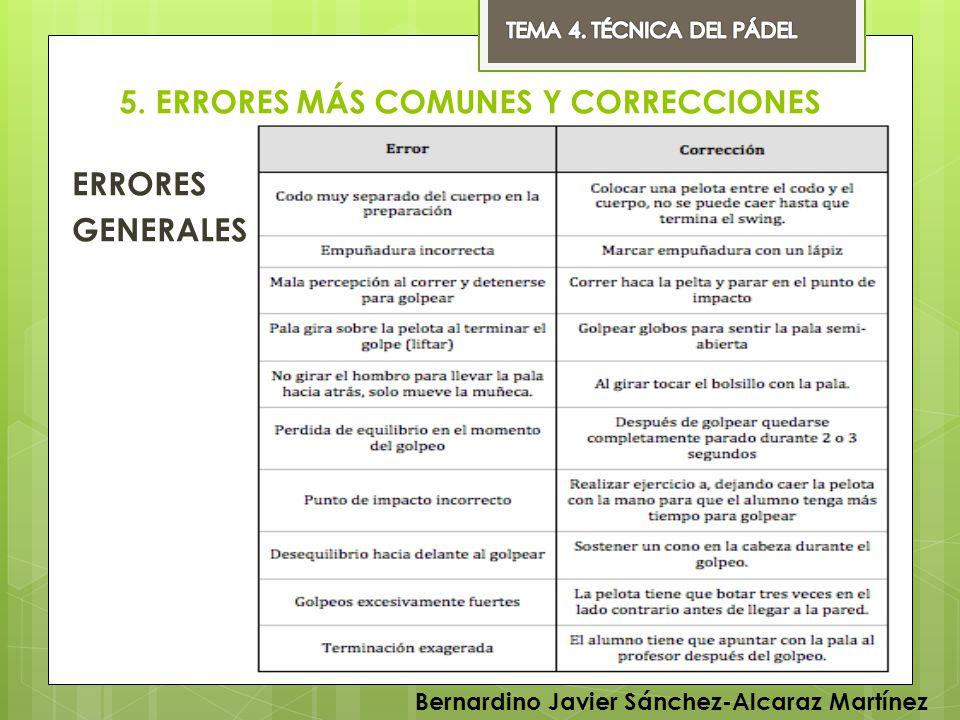 5. ERRORES MÁS COMUNES Y CORRECCIONES