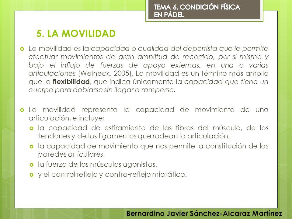 5. LA MOVILIDAD Bernardino Javier Sánchez-Alcaraz Martínez