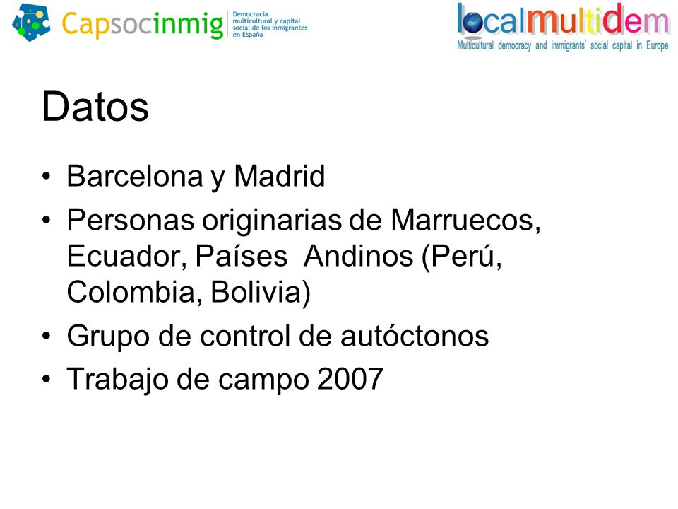 Datos Barcelona y Madrid
