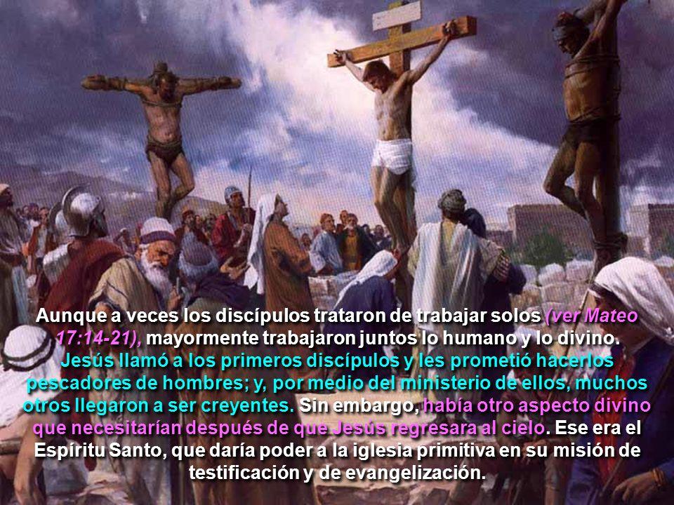 Aunque a veces los discípulos trataron de trabajar solos (ver Mateo 17:14-21), mayormente trabajaron juntos lo humano y lo divino.