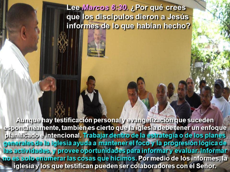 Lee Marcos 6:30. ¿Por qué crees que los discípulos dieron a Jesús informes de lo que habían hecho