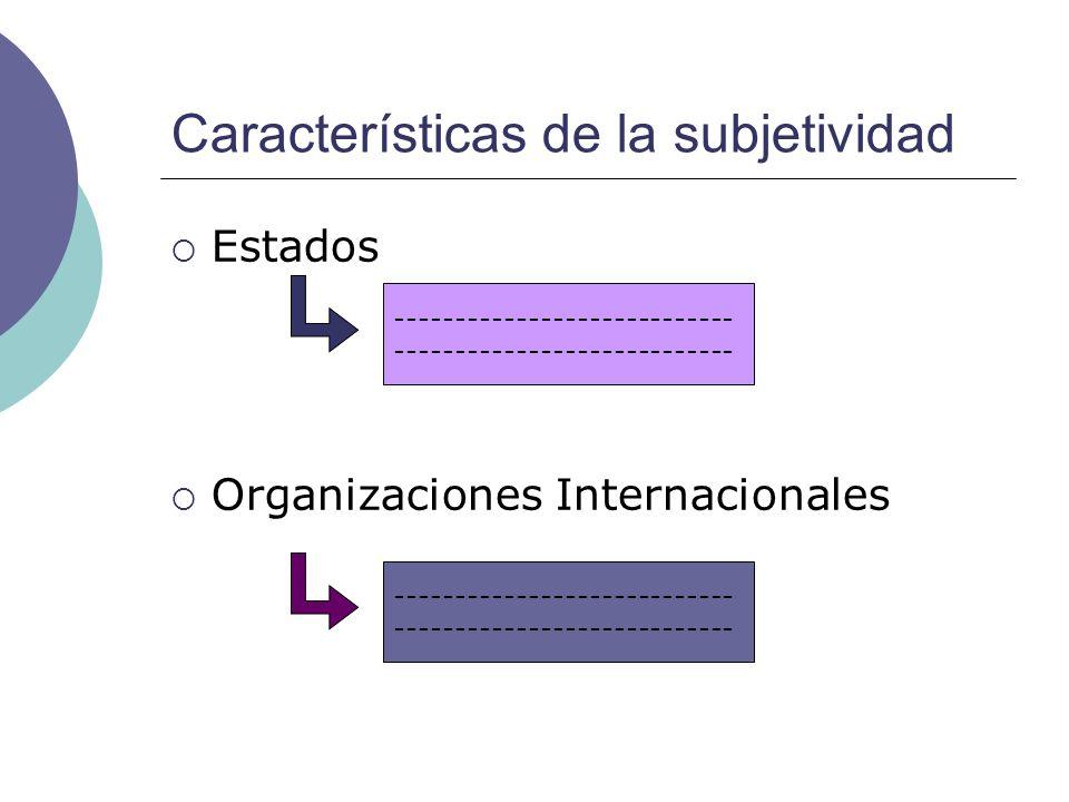 Características de la subjetividad