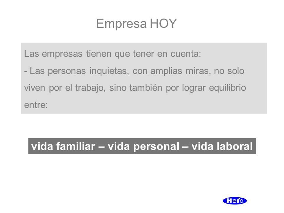 vida familiar – vida personal – vida laboral