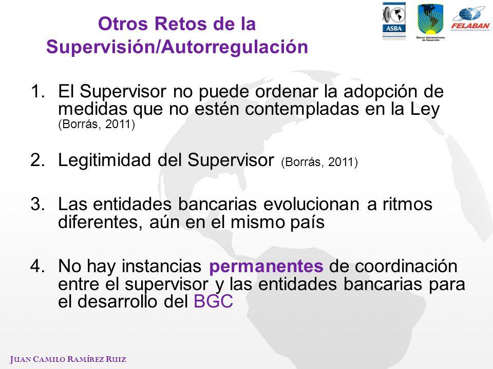 Otros Retos de la Supervisión/Autorregulación