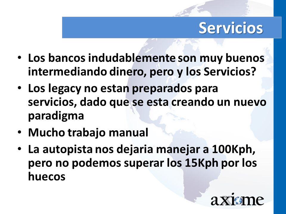 Servicios Los bancos indudablemente son muy buenos intermediando dinero, pero y los Servicios