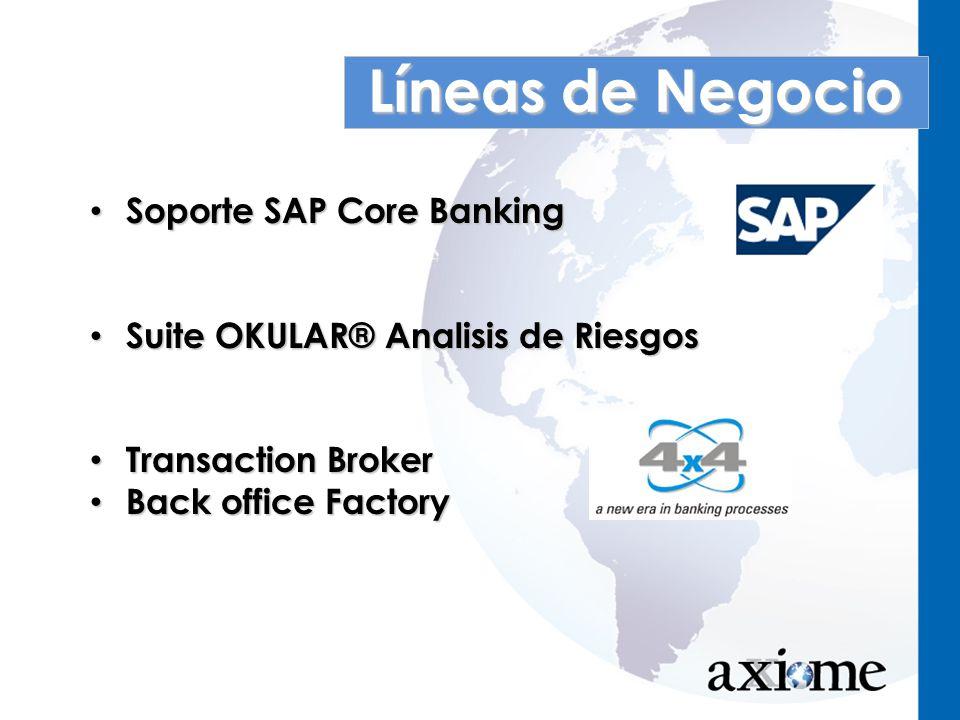 Líneas de Negocio Soporte SAP Core Banking