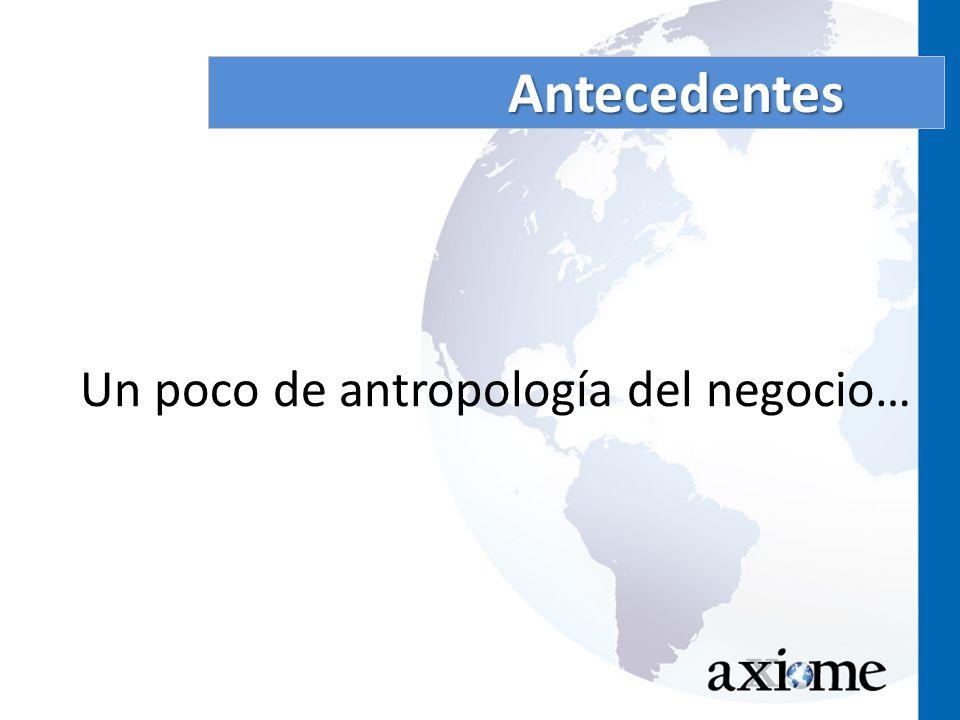 Un poco de antropología del negocio…