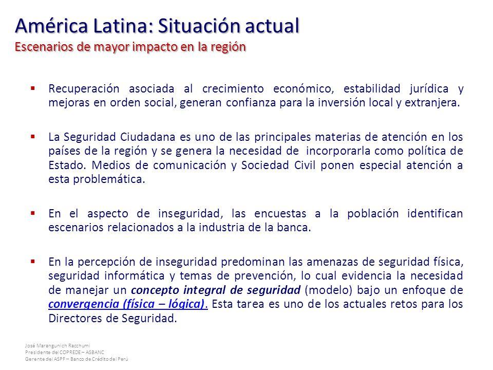 América Latina: Situación actual Escenarios de mayor impacto en la región