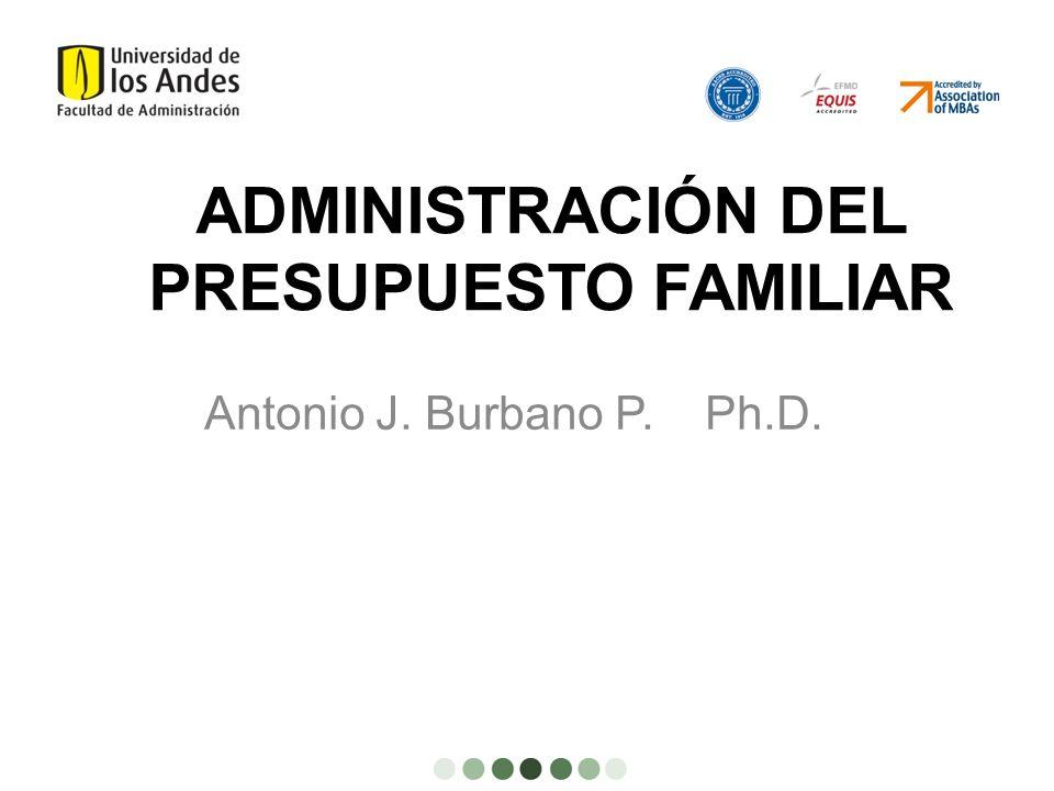 ADMINISTRACIÓN DEL PRESUPUESTO FAMILIAR
